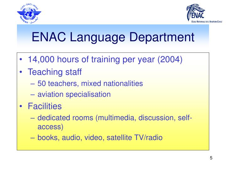 ENAC Language Department