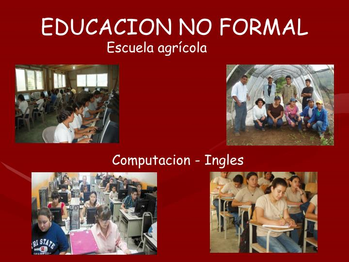 EDUCACION NO FORMAL