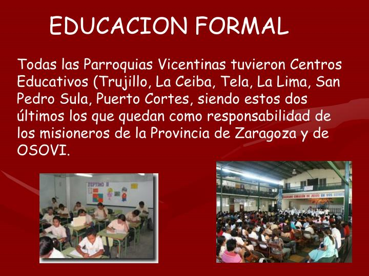 EDUCACION FORMAL