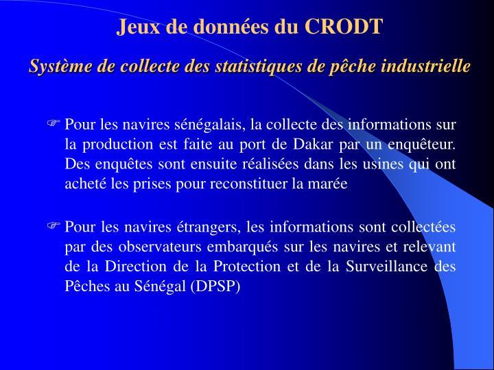 Jeux de données du CRODT