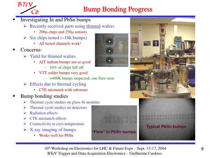 Bump Bonding Progress