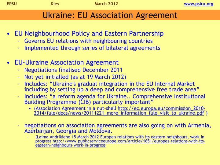 EU Neighbourhood Policy and Eastern Partnership