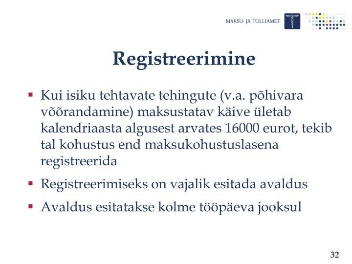 Registreerimine