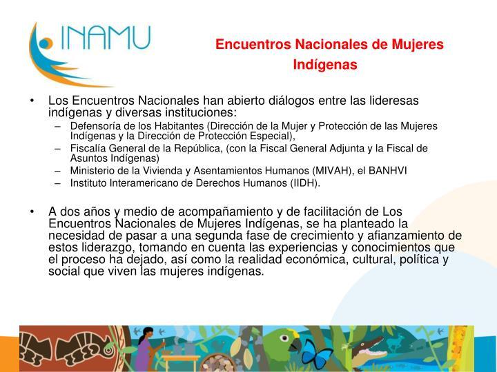 Encuentros Nacionales de Mujeres Indígenas