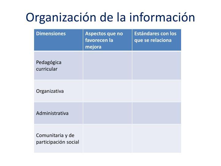 Organización de la información