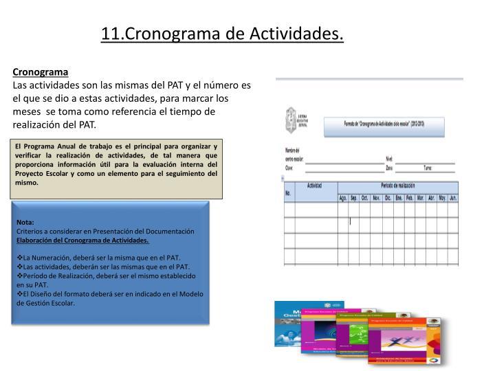 11.Cronograma de Actividades.
