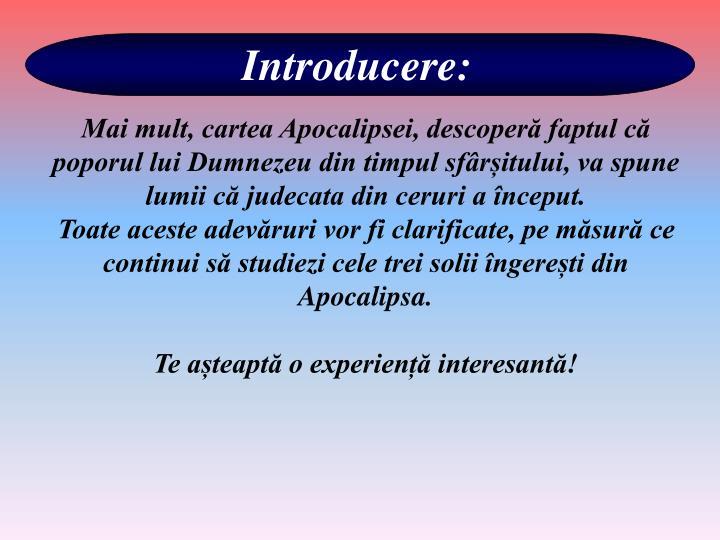 Introducere: