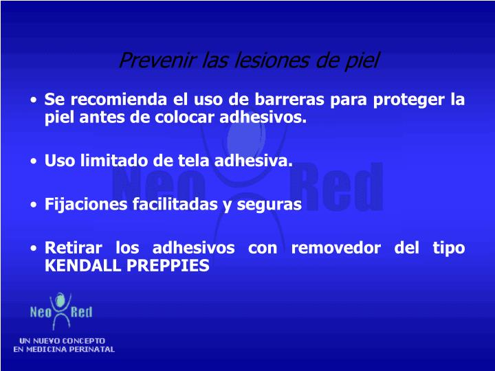 Prevenir las lesiones de piel