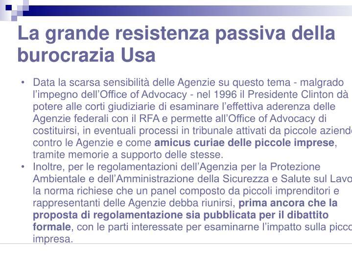 La grande resistenza passiva della burocrazia Usa