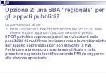 opzione 2 una sba regionale per gli appalti pubblici