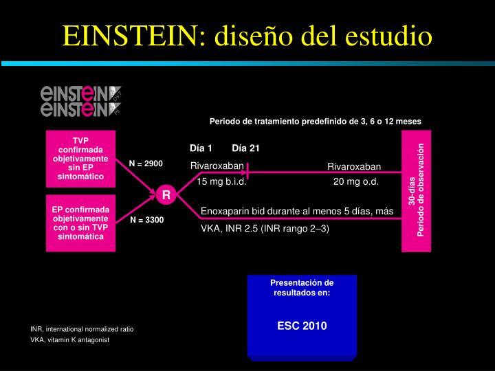 EINSTEIN: diseño del estudio