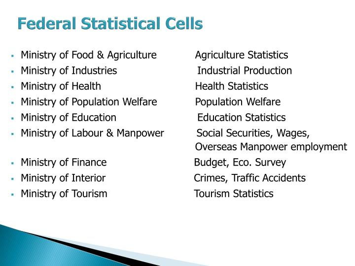 Federal Statistical Cells