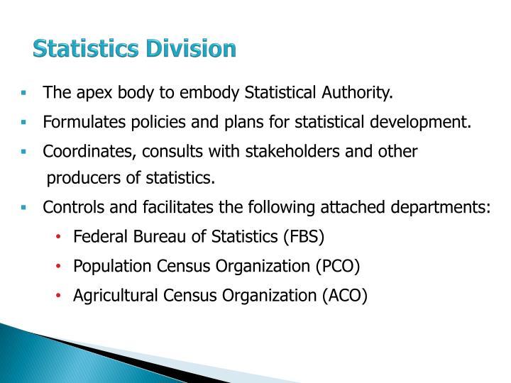 Statistics Division
