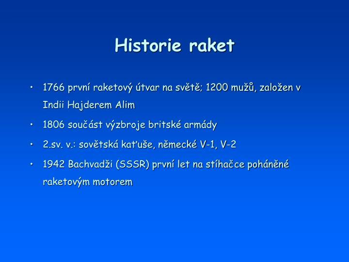 Historie raket