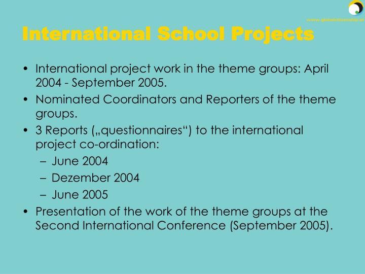 International School Projects
