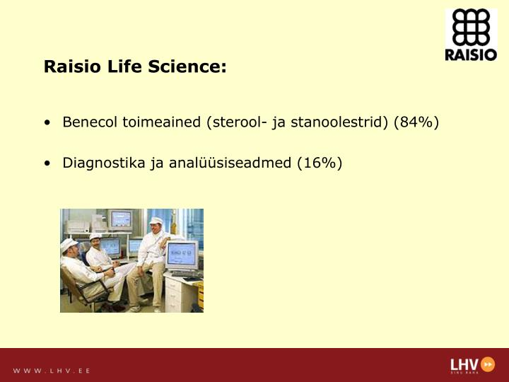 Raisio Life Science: