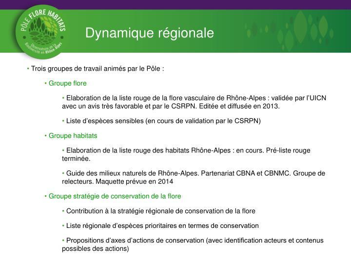 Dynamique régionale
