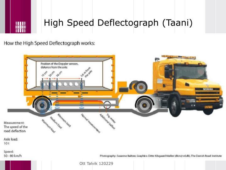 High Speed Deflectograph (Taani)