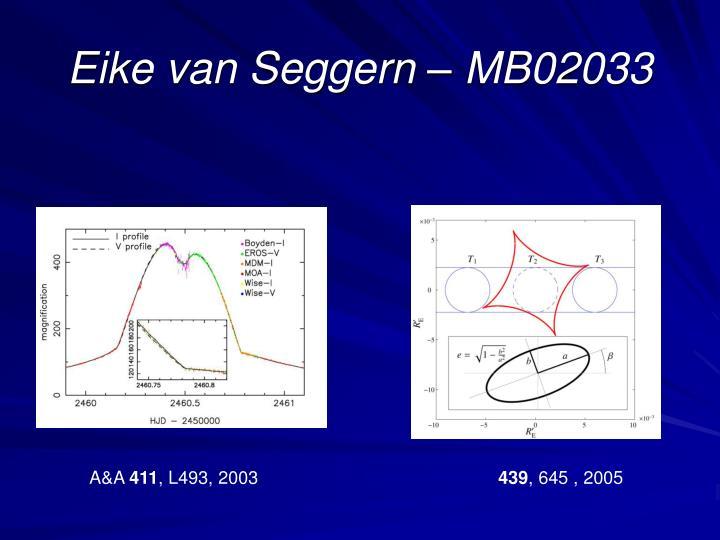 Eike van Seggern – MB02033