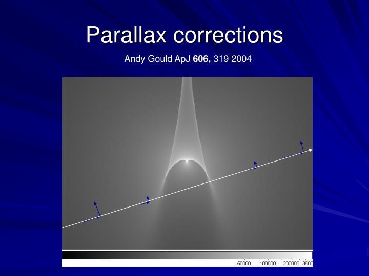 Parallax corrections