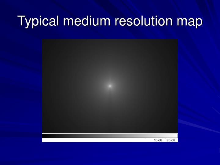 Typical medium resolution map