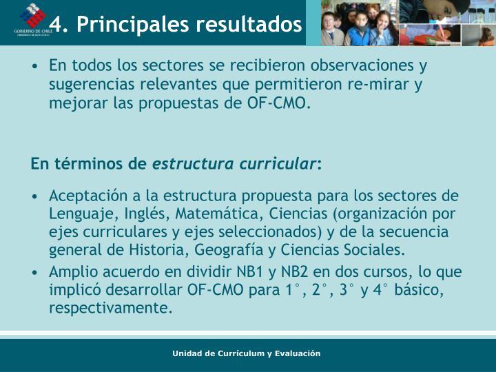 En todos los sectores se recibieron observaciones y sugerencias relevantes que permitieron re-mirar y mejorar las propuestas de OF-CMO.