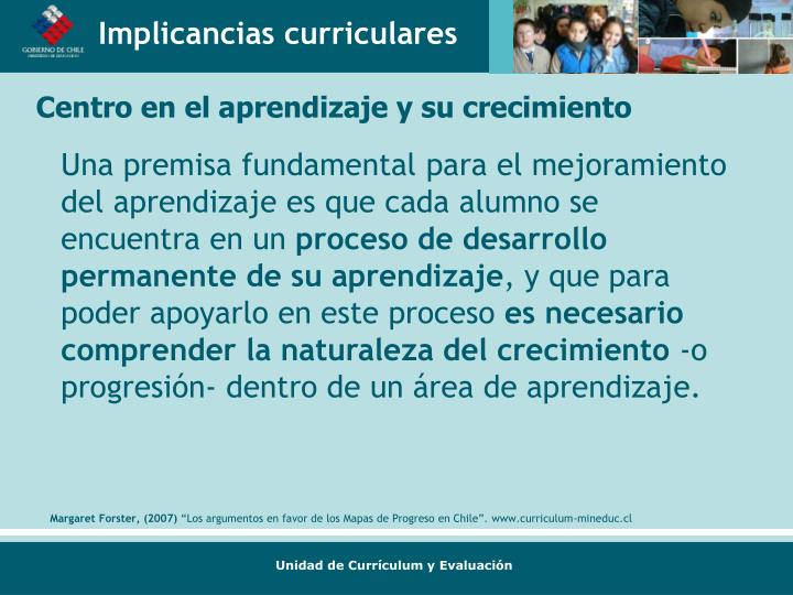 Implicancias curriculares