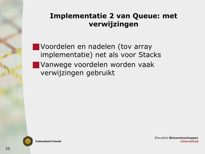 Implementatie 2 van Queue: met verwijzingen