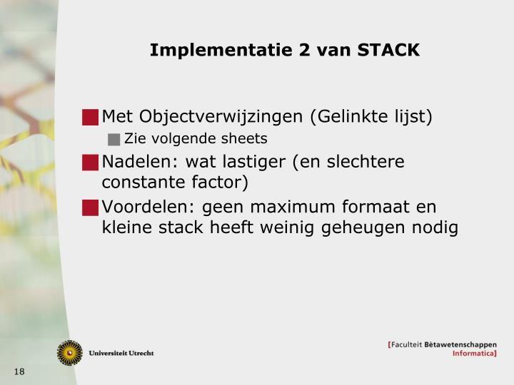 Implementatie 2 van STACK