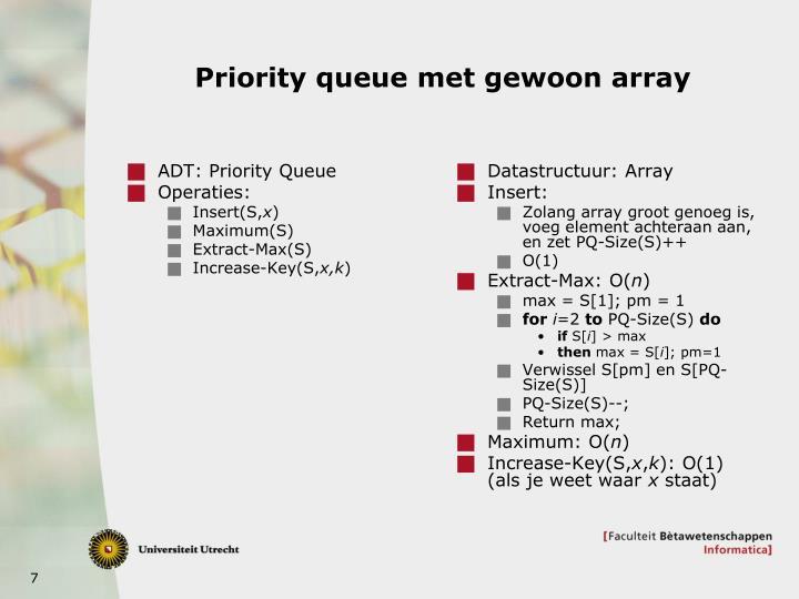 ADT: Priority Queue