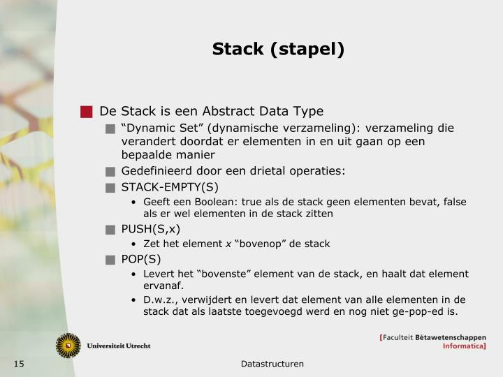 Stack (stapel)
