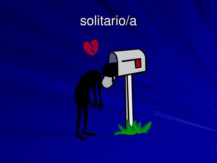 solitario/a