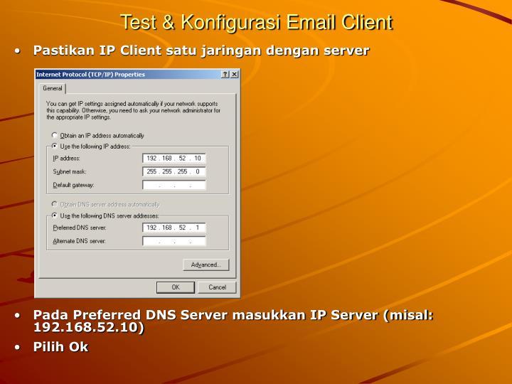 Test & Konfigurasi Email Client