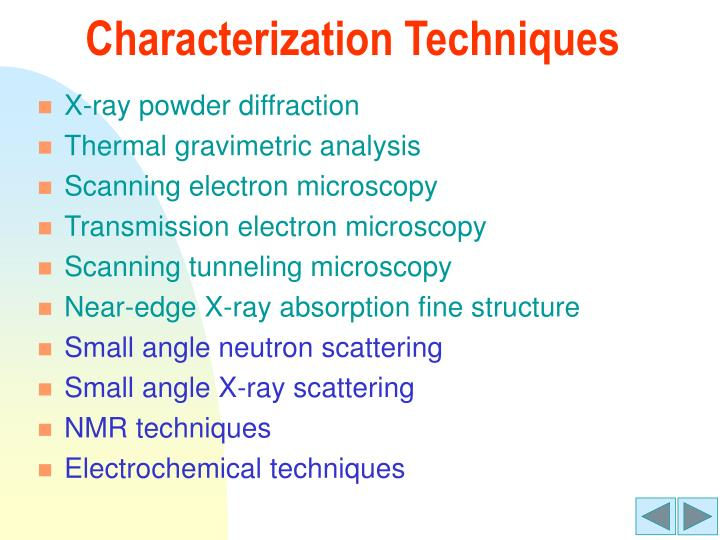 Characterization Techniques
