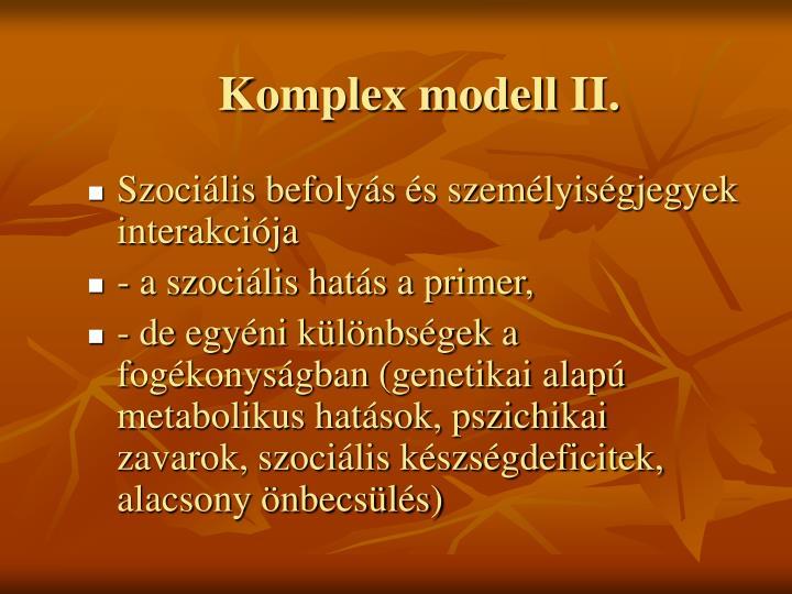 Komplex modell II.