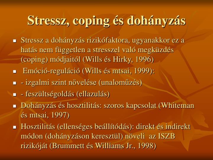 Stressz, coping és dohányzás