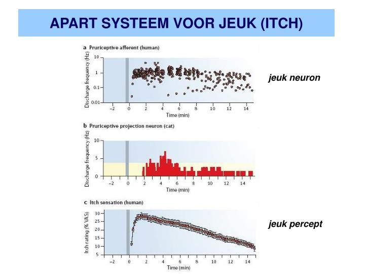 APART SYSTEEM VOOR JEUK (ITCH)