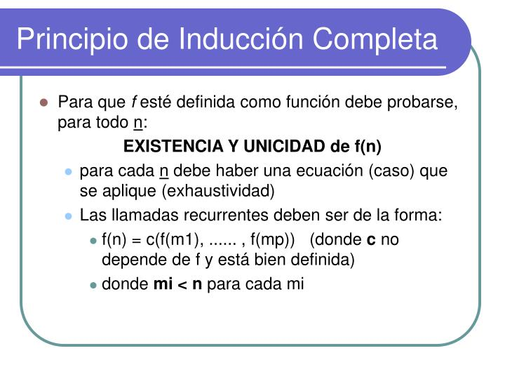 Principio de Inducción Completa
