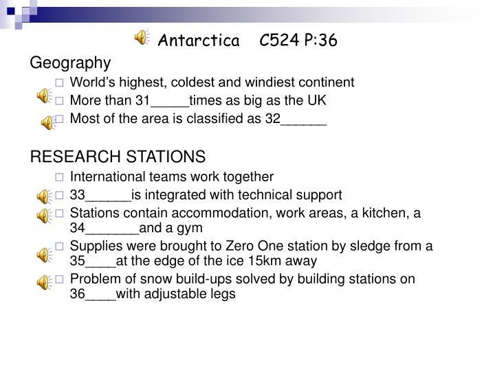 Antarctica    C524 P:36