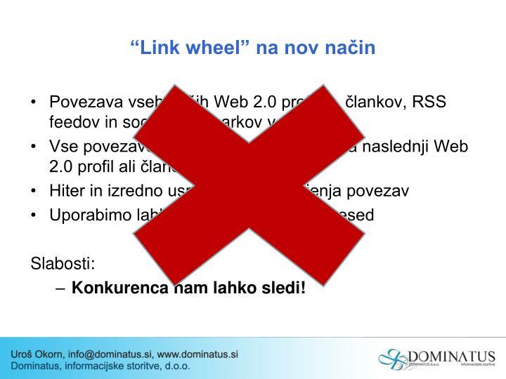 """""""Link wheel"""" na nov način"""
