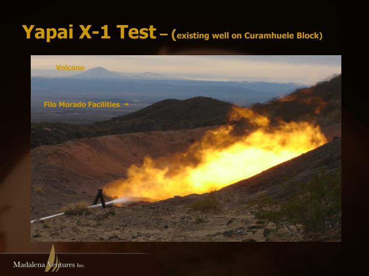 Yapai X-1 Test