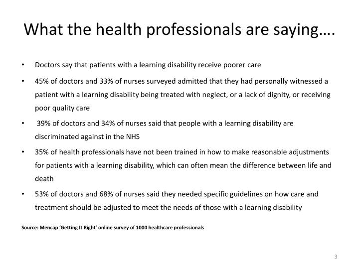What the health professionals are saying….