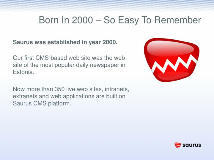 Born In 2000 – So Easy To Remember