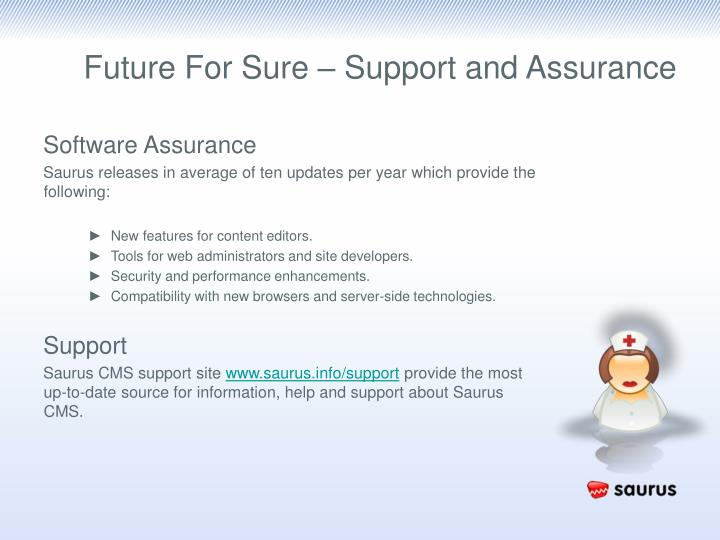 Future For Sure – Support and Assurance