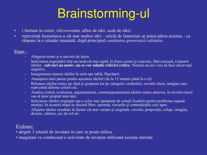 Brainstorming-ul