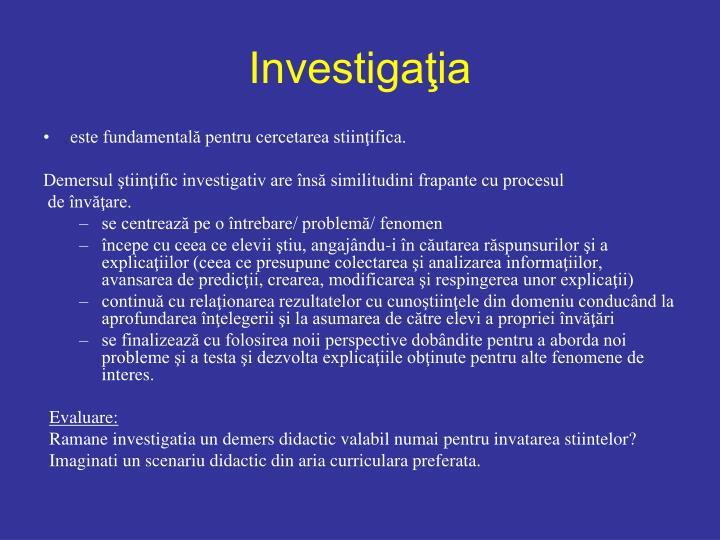 Investigaţia