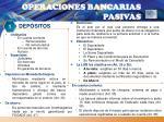 operaciones bancarias pasivas
