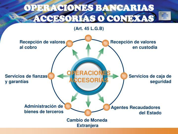 OPERACIONES BANCARIAS ACCESORIAS O CONEXAS