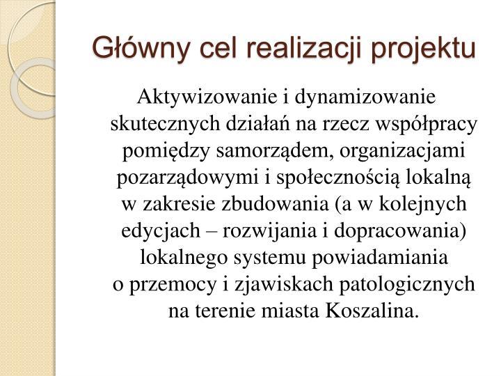 Główny cel realizacji projektu