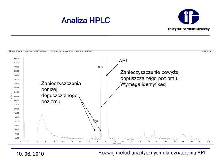 Analiza HPLC
